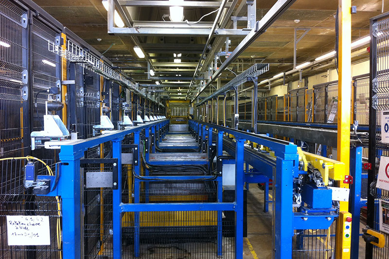 Maintenance industrielle : rails trempés